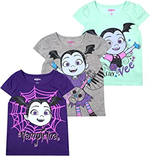 f7018588d Disney Girls 3-Pack T-Shirts: Wide Variety Includes Minnie, Frozen,