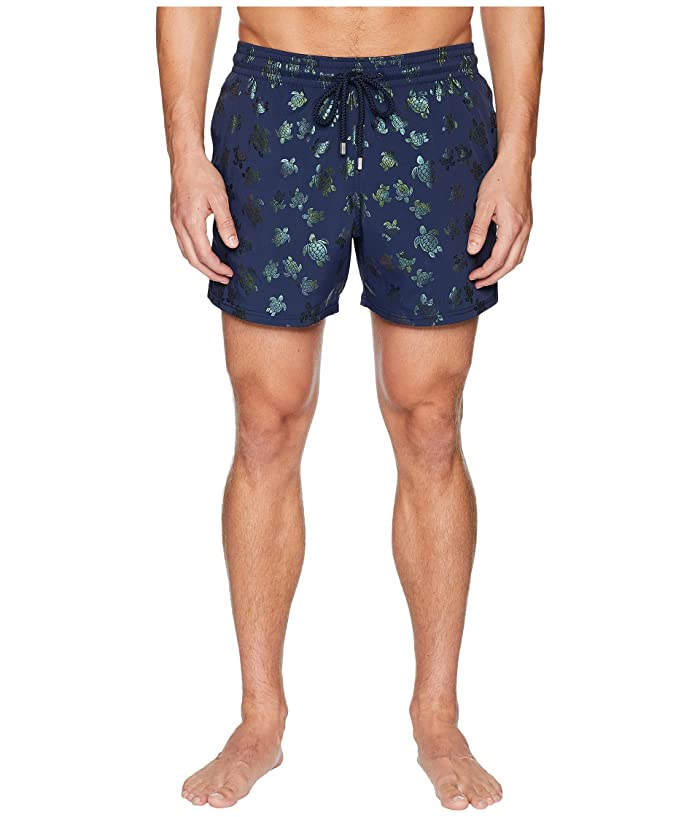 Vilebrequin Moorise Mordore Superflex Swim Trunk (Navy) Men