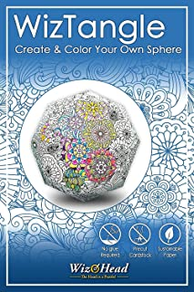 WizTangle - Create & Color Your Own Sphere, Paper Craft Model, Home Decor, 3D Assembly Puzzle, 3 Sets of Papercraft Spher...