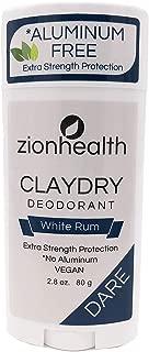 Zion Health Clay Dry Dare Deodorant Stick 2.8 oz White Rum