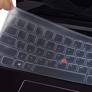 Black with Clear Saco Chiclet Keyboard Skin for Lenovo Ideapad Y500 59-379647 Laptop/ 15.6-inch Laptop