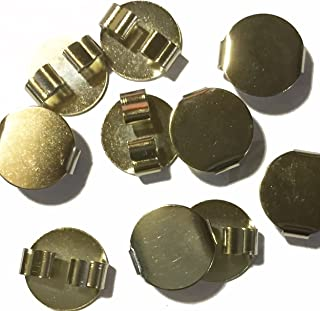 Blank Bolo Tie Round Slides Pack of 10 Gold tone 16mm.