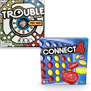 Classic Connect 4 and Trouble Game Bundle