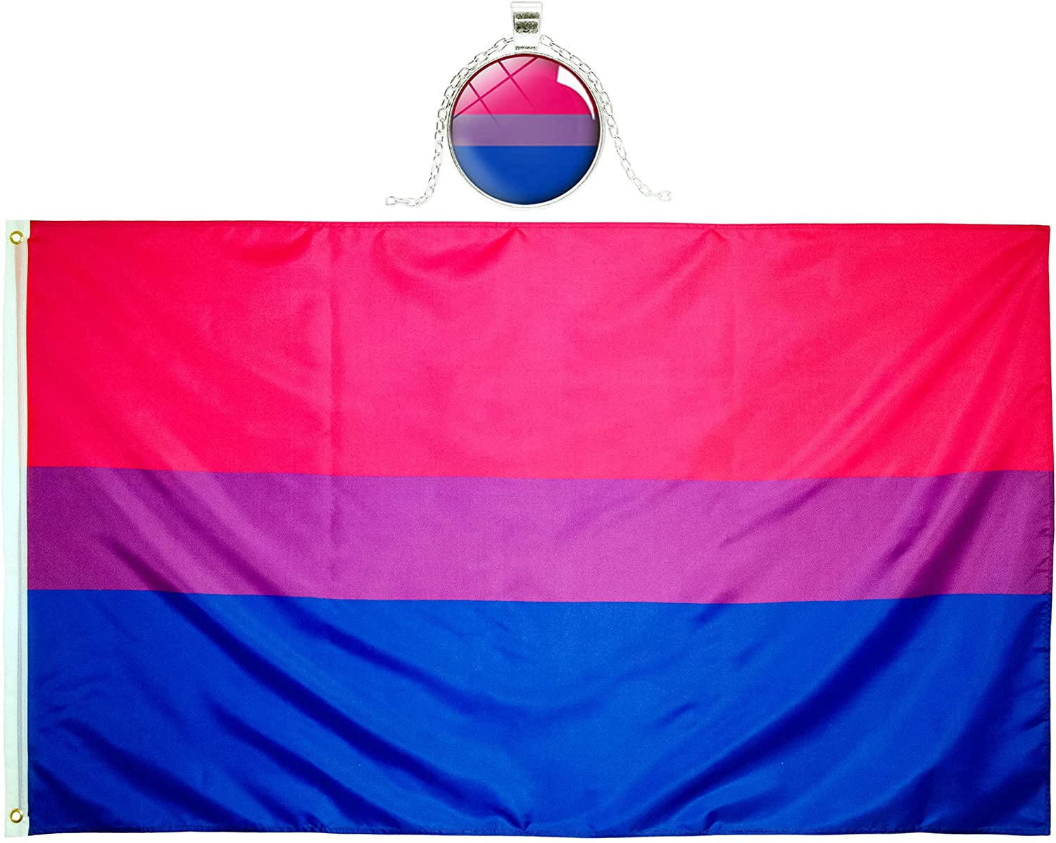 Eugenys Superior Bi Pride Flag price 3x5 Feet Included Free Necklace Nice -