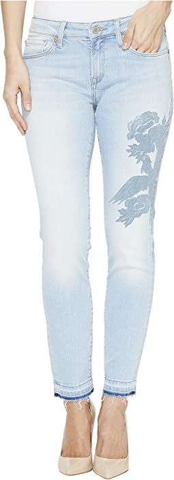 Adriana Ankle Mid-Rise Skinny in Colored Laser Icon