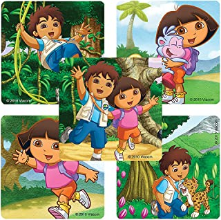 SmileMakers Dora The Explorer & Diego Stickers - 100 Per Pack