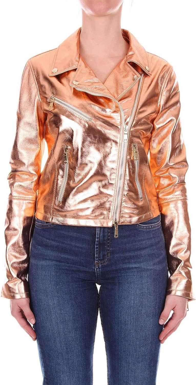 Emanuele Curci Women's LM5000NADIARAME Bronze Leather Outerwear Jacket