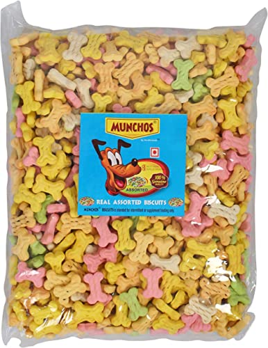 MUNCHOS Assorted Flavor Freshly Baked Cookies for Puppies, 1 kg