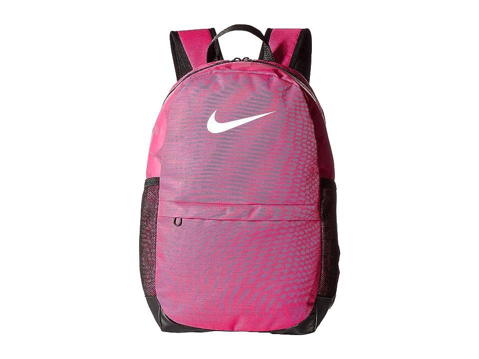 Nike Kids Brasilia Backpack (Little Kids/Big Kids) (Rush Pink/Black/White) Backpack Bags