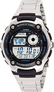 Watch for Men by Casio, Digital, Stainless Steel, Silver, AE-2100WD-1A