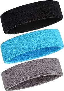 Sweatband Headbands/Wristbands for Men & Women - 3PCS/6PCS/12PCS Sports Headbands Moisture Wicking Athletic Cotton Terry Cloth Wristbands Head Band