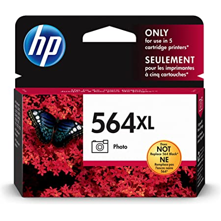 HP 564XL   Ink Cartridge   Photo   Works with HP Photosmart 7500 Series, C6300 Series, C510a, C309g, C310a, C410a, C309n, C311a   CB322WN