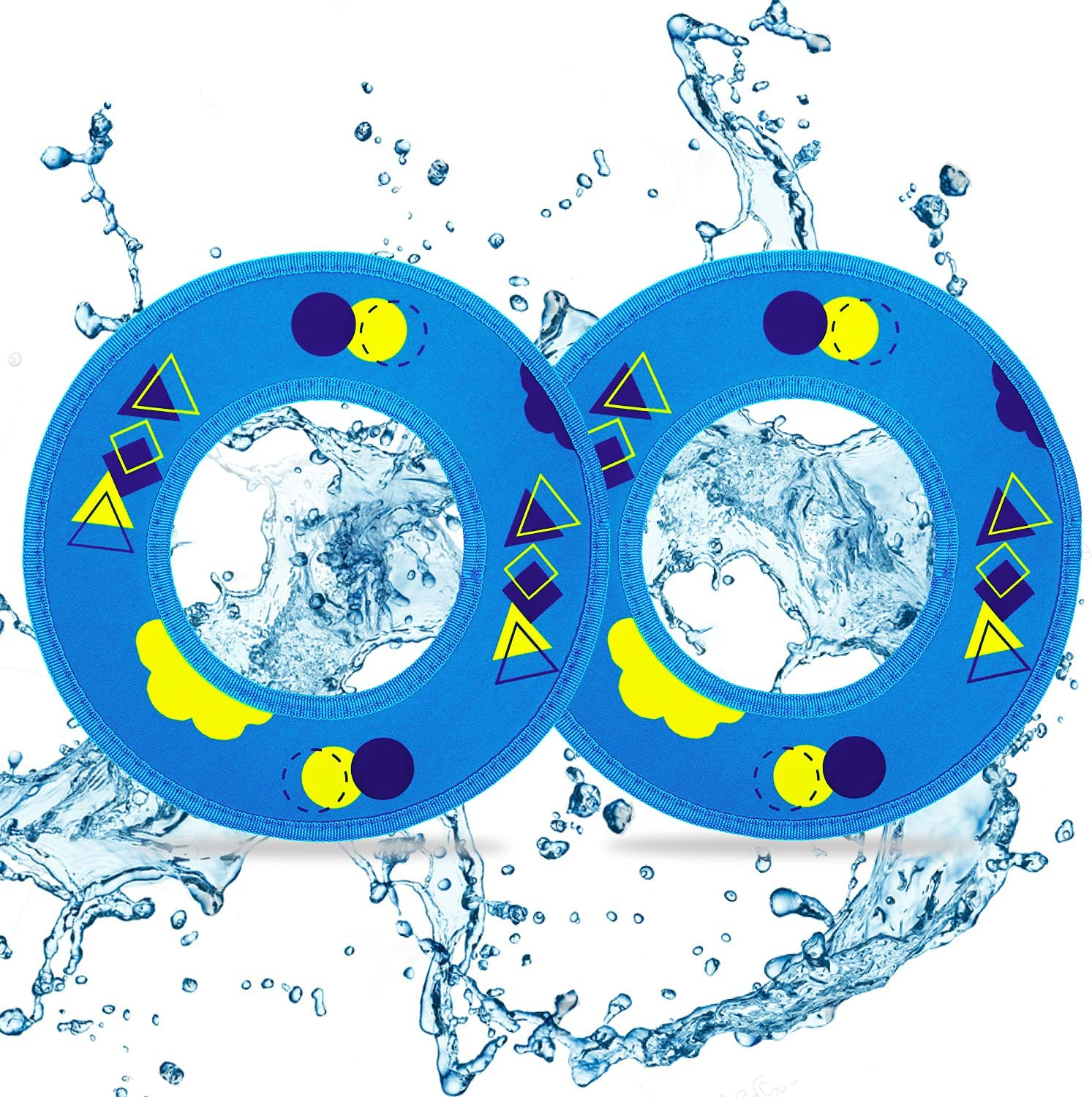 clownew Flying Discs for Kids 2 Pack Soft Bulk Inexpensive Large special price Pool Fly - Water