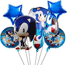6 pcs Sonic Balloons,Sonic the Hedgehog Birthday Party Supplies,Kids Birthday Party Favor Decorations Perfect for Your The...