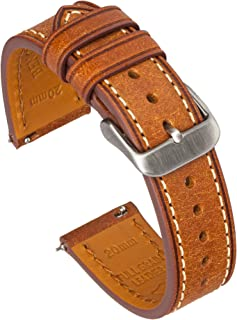 Benchmark Basics Quick Release Leather Watch Bands - Premium Italian Full Grain Leather Watch Straps for Men & Women - Cho...