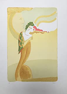 """Stamperia D'Arte Busato: """"Violinista"""" - Vico Calabrò - litografia a cinque colori. Numerate e firmate dall'artista."""