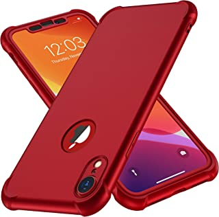 ORETech Case Compatible with iPhone XR Case,with [2X Tempered Glass Screen Protector] 360 Silicone Phone Case Thin Shockpr...