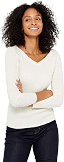 State Cashmere Women's 100% Cashmere Soft V-Neck Pullover Sweater