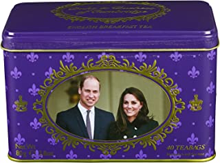Prince William & Kate Middleton English Breakfast Tea Tin