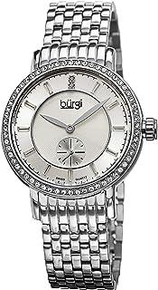 ساعة بورغي للنساء BUR099SS كوارتز سويسرية الماس بسوار فضي من الستانلس ستيل