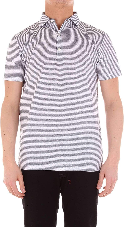 DIKTAT Men's 59117GREY Grey Cotton Polo Shirt