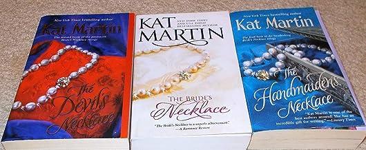 Kat Martin: 3 Book Set: Softcover: The Handmaiden's Necklace: The Bride's Necklace: The Devil's Necklace: Very Good.