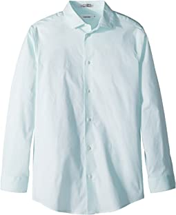 Calvin Klein Kids Hexagon Dot Print Long Sleeve Shirt (Big Kids)