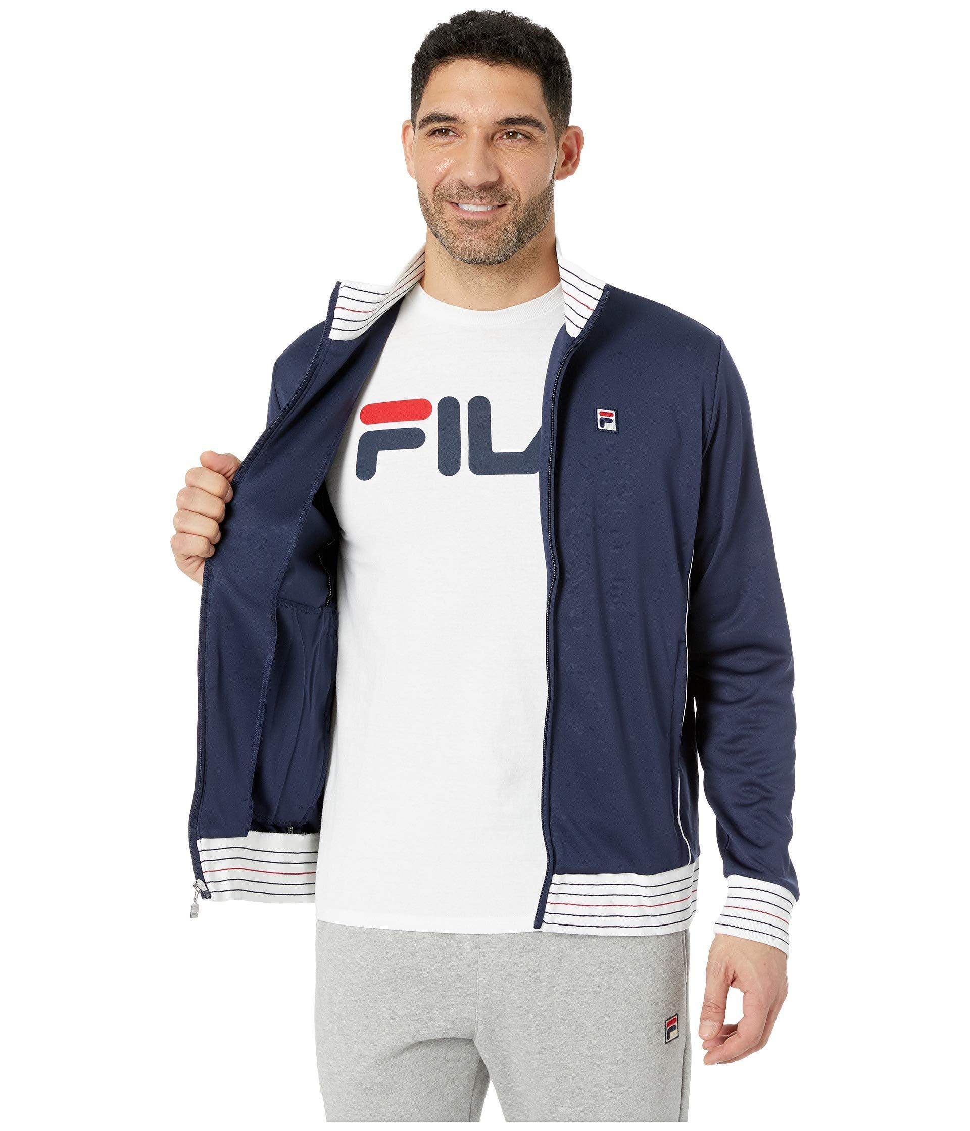 Heritage chinese white Fila Red Tennis Navy Jacket BcwdqO