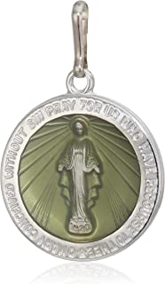 Alex and ANI Divine Guides Women's Mother Mary Miraculous Medal Charm for Bracelets.925 Sterling Silver