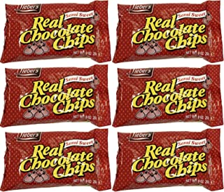 Lieber's Semi Sweet Chocolate Chips, Kosher  9 Ounce Bag (Pack of 6, Total of 54 Oz)