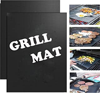 Quanzhou Chenchenchen E-Commerce Co,Ltd Grill Mat Set of 2 / Non-Stick BBQ Grill Mats, Reusable and Easy to Clean - Works ...