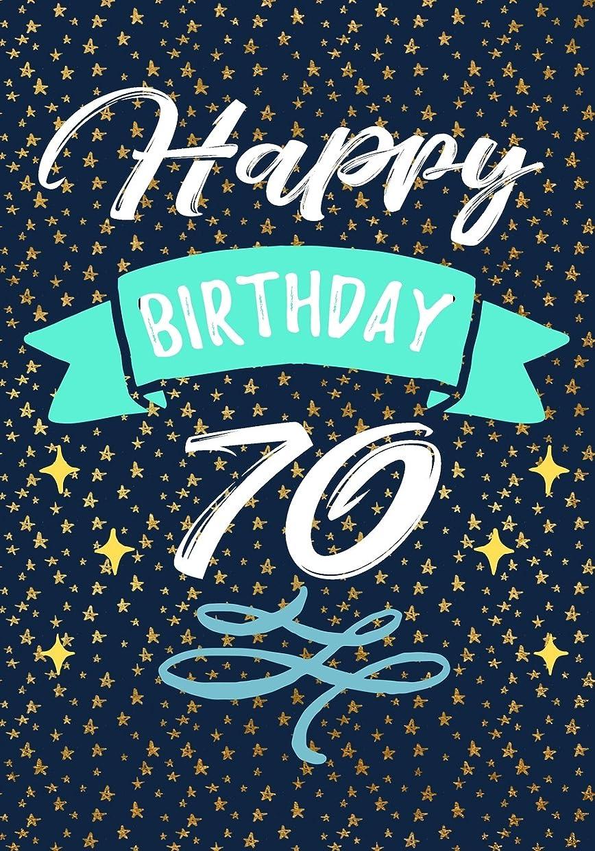 磨かれたどこにもブローホールHappy Birthday 70: Keepsake Journal Notebook For Best Wishes, Messages & Doodling V70