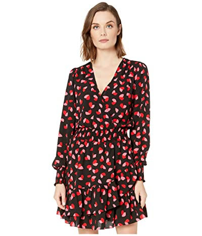 MICHAEL Michael Kors Ruffle Wrap Dress (Black Multi) Women