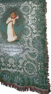 Manual 50 x 60-Inch Tapestry Throw, Willow Tree Thinking of You Throw