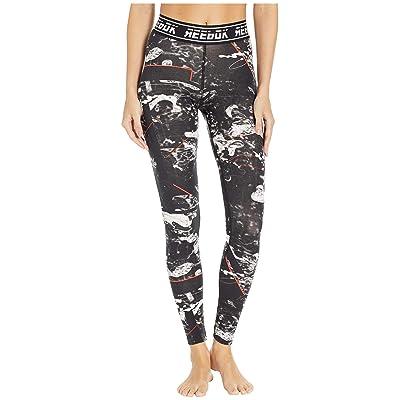 Reebok Workout Essentials Meet You There Dot Leggings (Black) Women