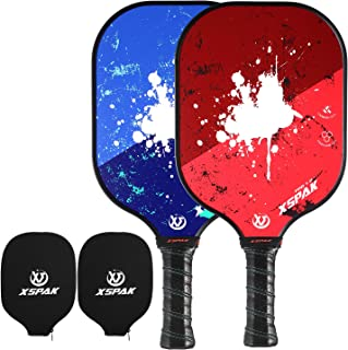 XS XSPAK Graphite Pickleball Paddle Set, Lightweight Graphite Honeycomb Composite Core Paddles Single Wrap or Sets of 2, USAPA Approved