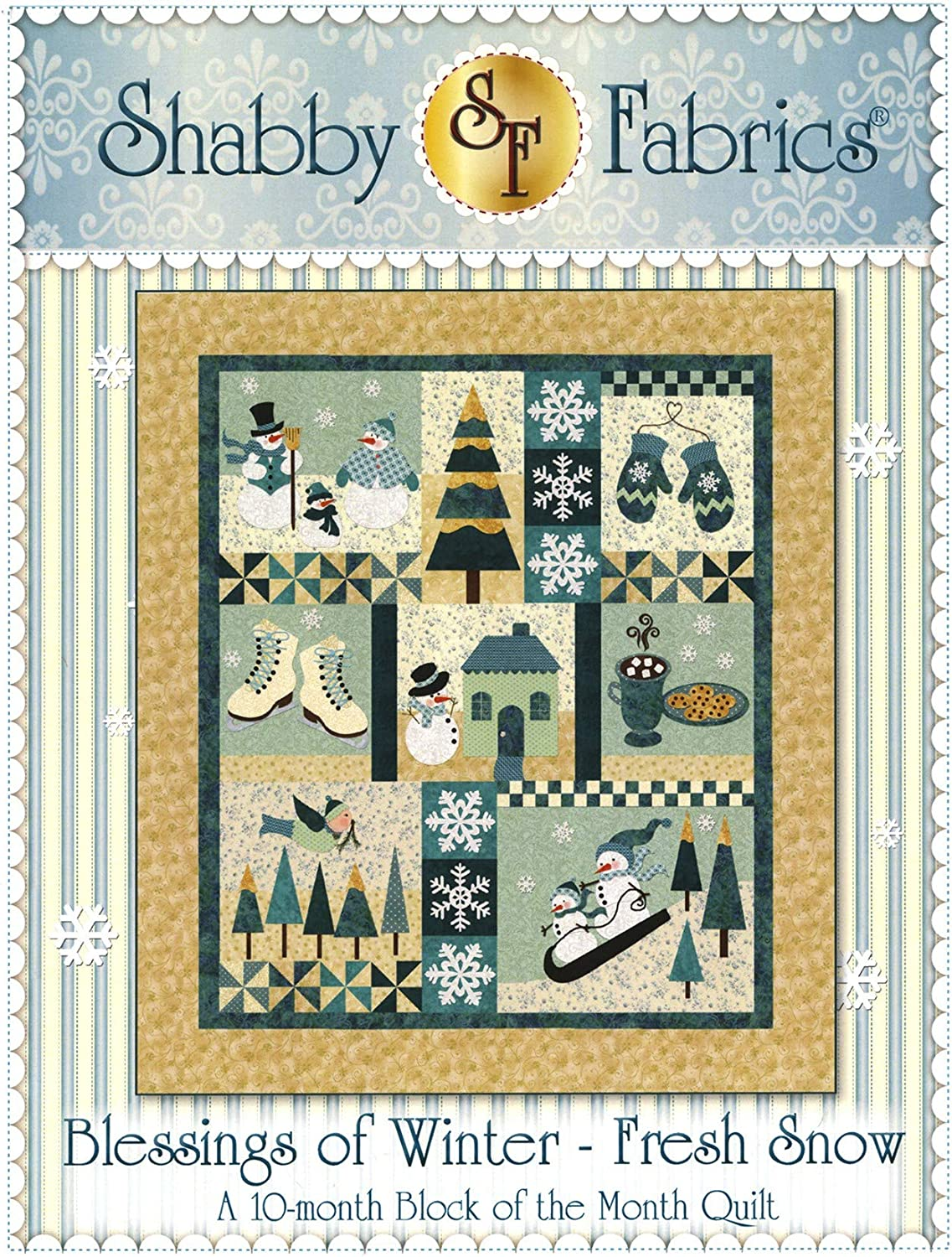 Blessings of Winter - Fresh 67% OFF of fixed price Snow Fabrics by Max 85% OFF Pattern Shabby Quilt
