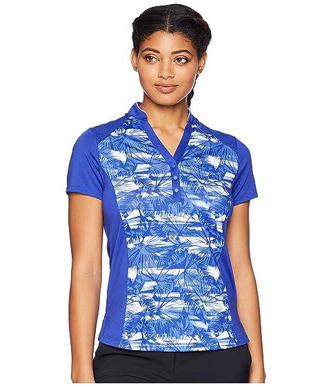 CALLAWAY Tropical Print Top, Dazzling Blue