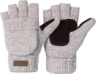Sponsored Ad - Winter Knitted Convertible Fingerless Gloves Wool Mittens Warm Mitten Glove for Women and Men