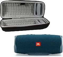 JBL Charge 4 Waterproof Wireless Bluetooth Speaker Bundle with Portable Hard Case - Blue