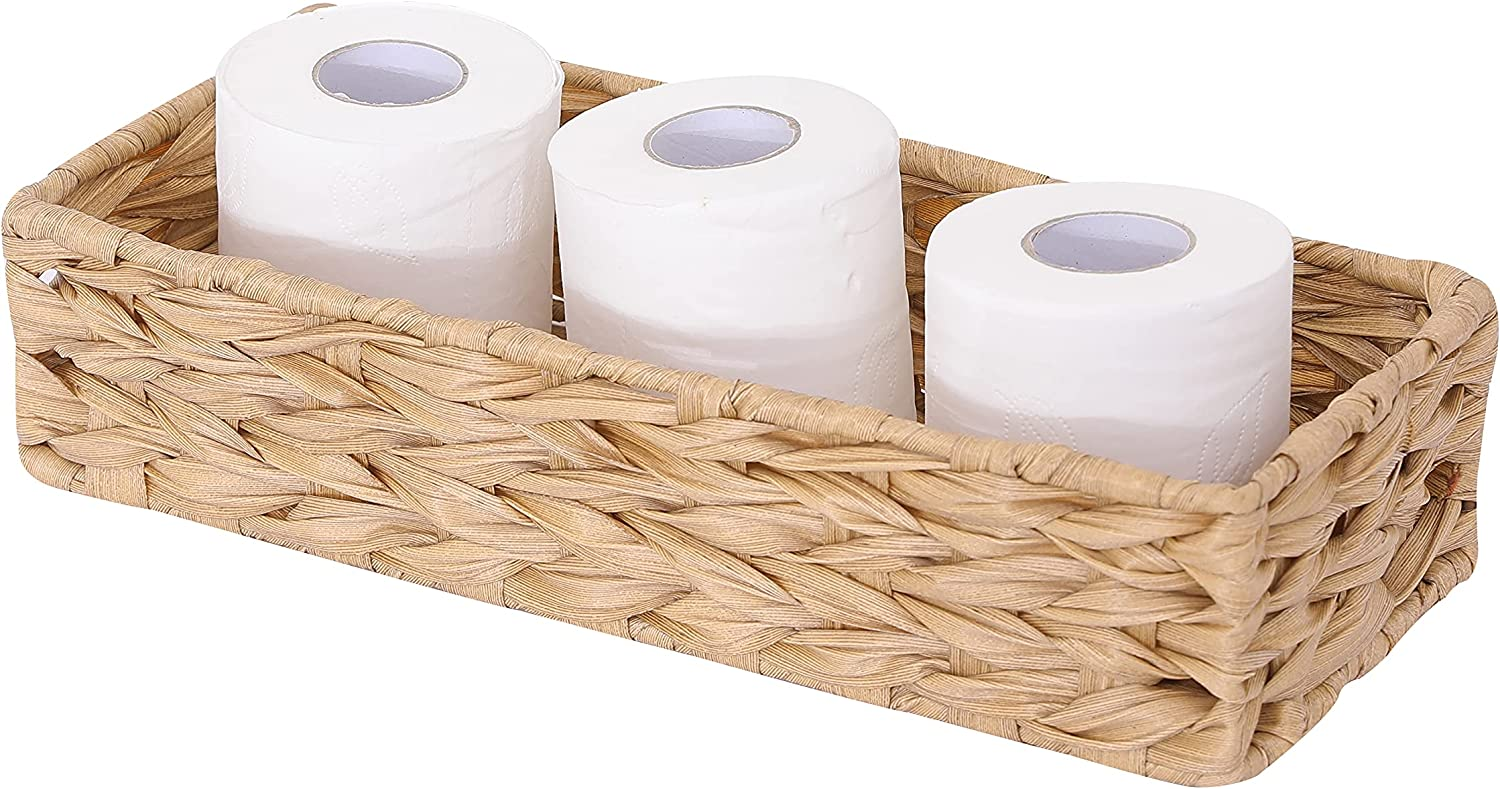 Weave Toilet Paper Basket Storage Max 42% OFF Bask Woven San Diego Mall