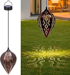 Lanterne Solaire, Tencoz Lampe Solaire Extérieur Jardin Decorative IP44 Étanche, Éclairage de Jardin Lampe Suspendue Lante...