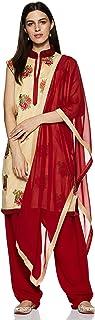 SOCH Women's cotton Straight Salwar Suit Set (SIBT CD MX 10016_ Beige_ 2xl)