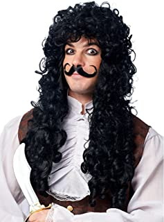 Captain Hook Adult Wig and Mustache