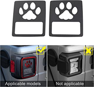 JeCar Taillights Cover Tail Light Guards Cover for 2018 Jeep Wrangler Unlimited JL Sport/Sports(Pawprint)