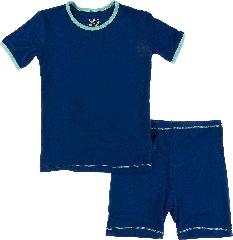 depot Memphis Mall KicKee Pants Solid Short Sleeve with Set Pajama Shorts