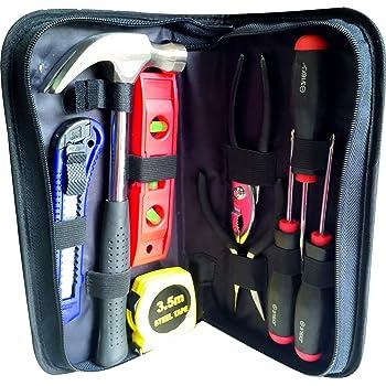 Estuche set de Herramientas Ekeko Home Survival Briefcase. Practico set de herramientas para cualquier emergencia en el hogar, coche, autocaravana.: Amazon.es: Bricolaje y herramientas