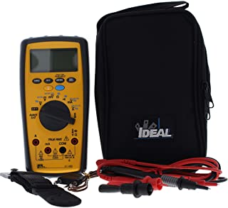 IDEAL INDUSTRIES INC. 61-486 Commercial Grade Multimeter with Low Impedance,TRMS, Cap, Freq, NCV, Temp, AC/DC Voltage Detection, CATIII for 1000v, CATIV for 600v