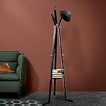 Artiss Coat Rack Wooden Entryway Clothes Hanger Stand Black