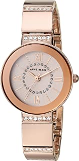 Anne Klein Women's AK/3190RGRG Swarovski Crystal Accented Rose Gold-Tone Bracelet Watch